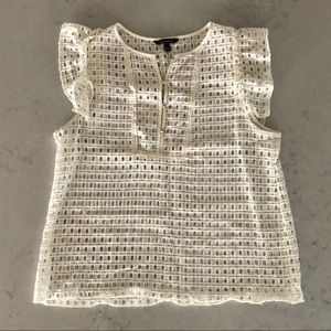 Banana Republic Eyelet Top